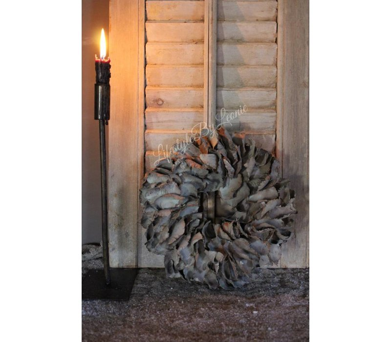 Krans Palm Petal grey 25 cm