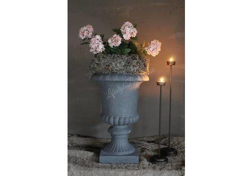 Zijden Hortensiatak snowball roze