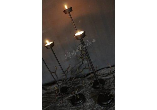 Waxinelichtje kandelaar metaal 50 cm
