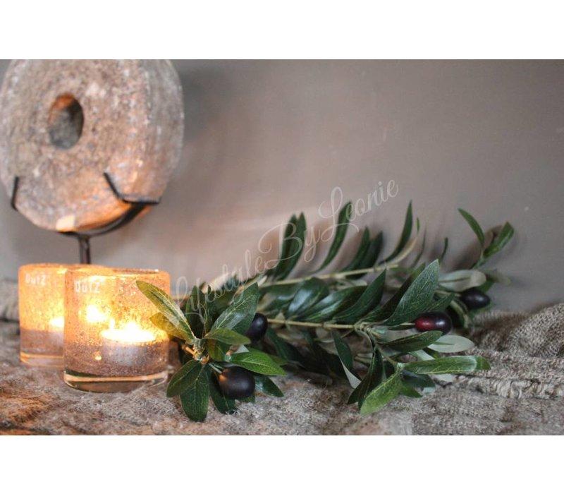 Bosje zijden olijftakken 70 cm