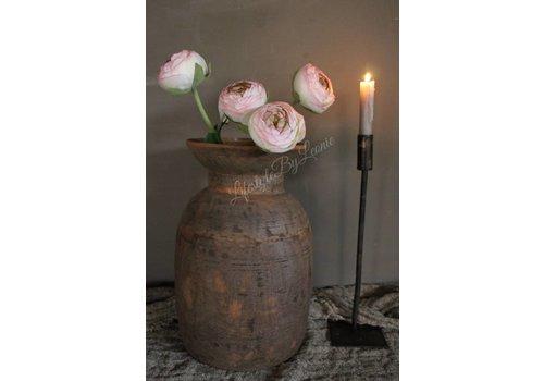 Zacht roze ranonkel op tak 50 cm