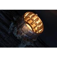 Waxinelichthouder Sober mat roest 15 cm