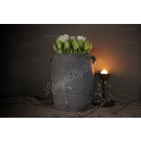 Groene kunst tulp in knop 38 cm