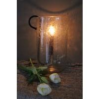 Cilinder windlicht Puur steenslag 31 cm