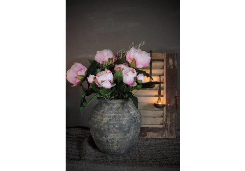 Zijden bos pioen rozen Light pink