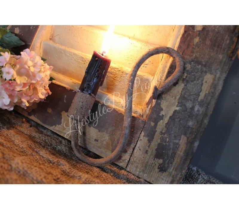 S-kandelaar roest dinerkaars 15 cm