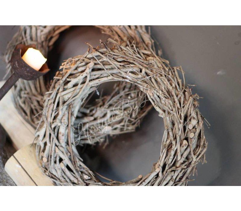 Krans Tea Tree op houten voet 40 cm