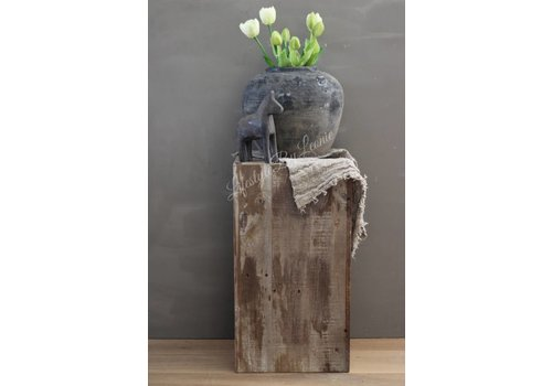 Houten zuil / plantenbak  55cm