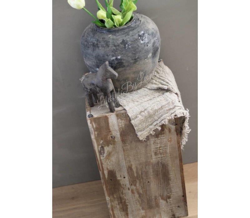 Houten zuil / plantenbak 55 cm