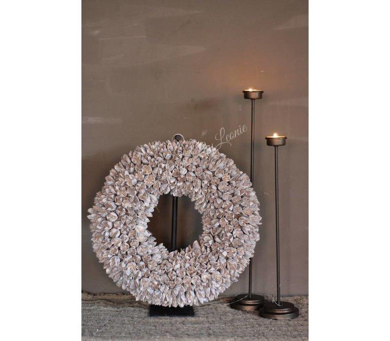 Krans bakuli white wash 40 cm