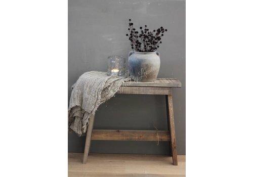 Oude houten kruk 'Natural wood'|49cm
