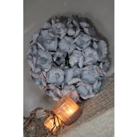 Krans palm cup grijs 40 cm