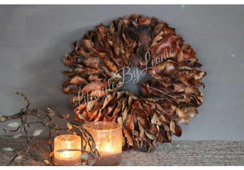 LifestyleByLeonie Krans Palm Petal Bruin 40 cm