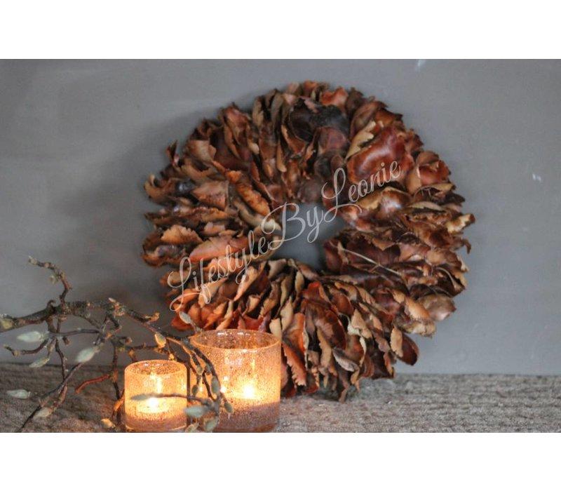 Krans Palm Petal Bruin 40 cm