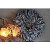 LifestyleByLeonie Krans palm petal dark grey 30 cm