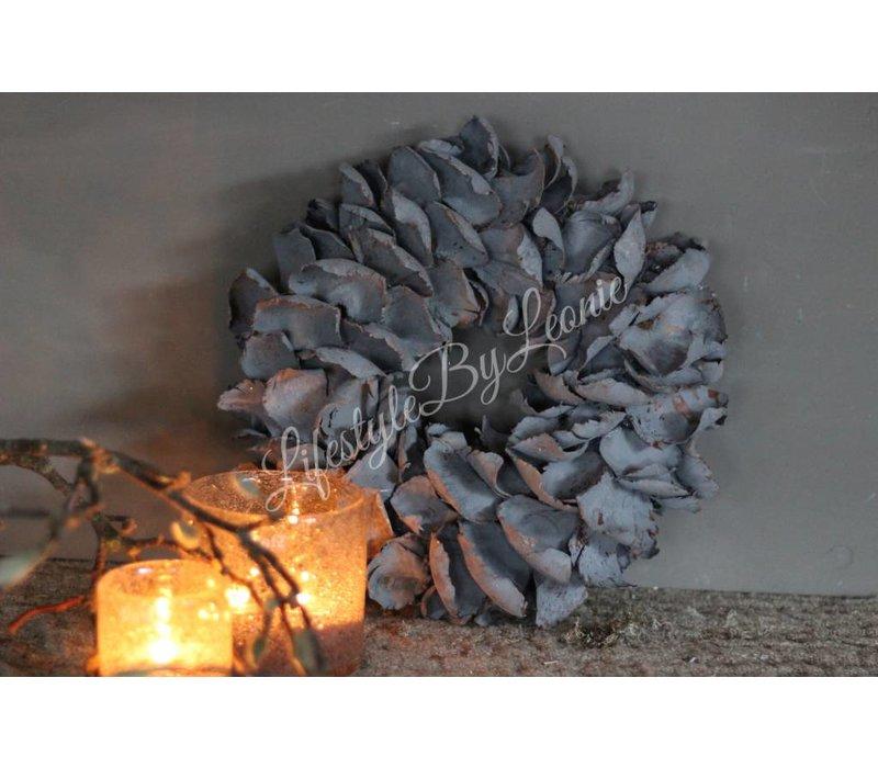 Krans palm petal dark grey 30 cm