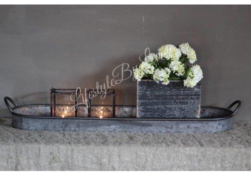 LifestyleByLeonie Zwart houten bloempot  19cm