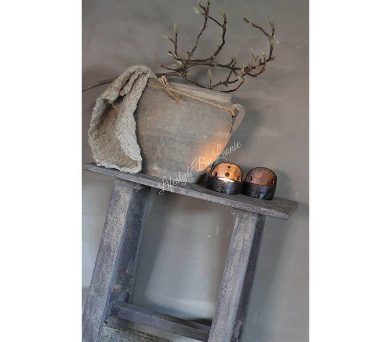 Houten kruk Old grey 45 cm