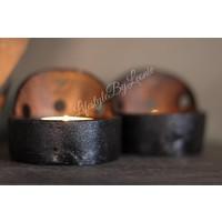 Smeedijzeren cup kandelaar Zwart 6,5 cm