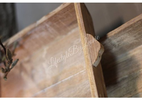 LifestyleByLeonie Houten dienblad / tray naturel 50 cm