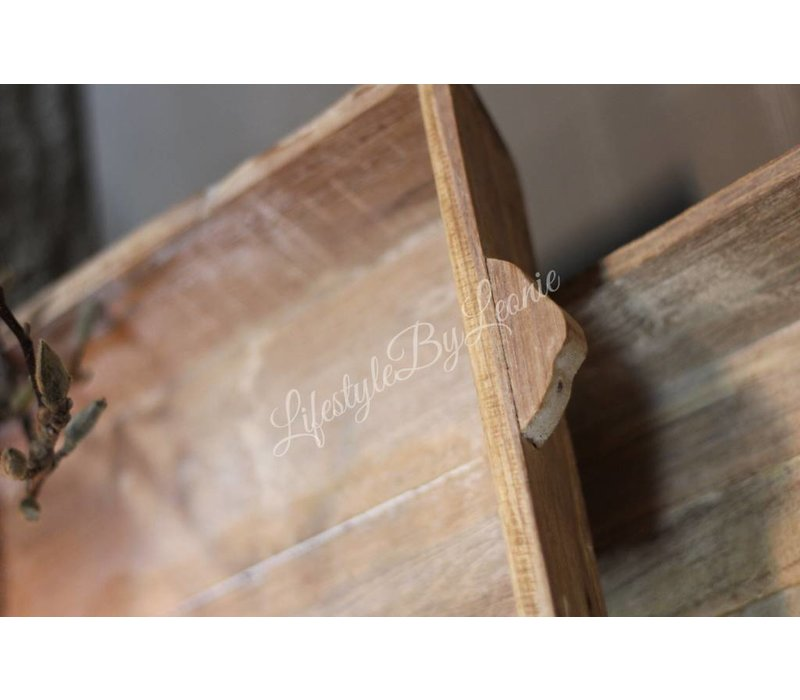 Houten dienblad / tray naturel 50 cm