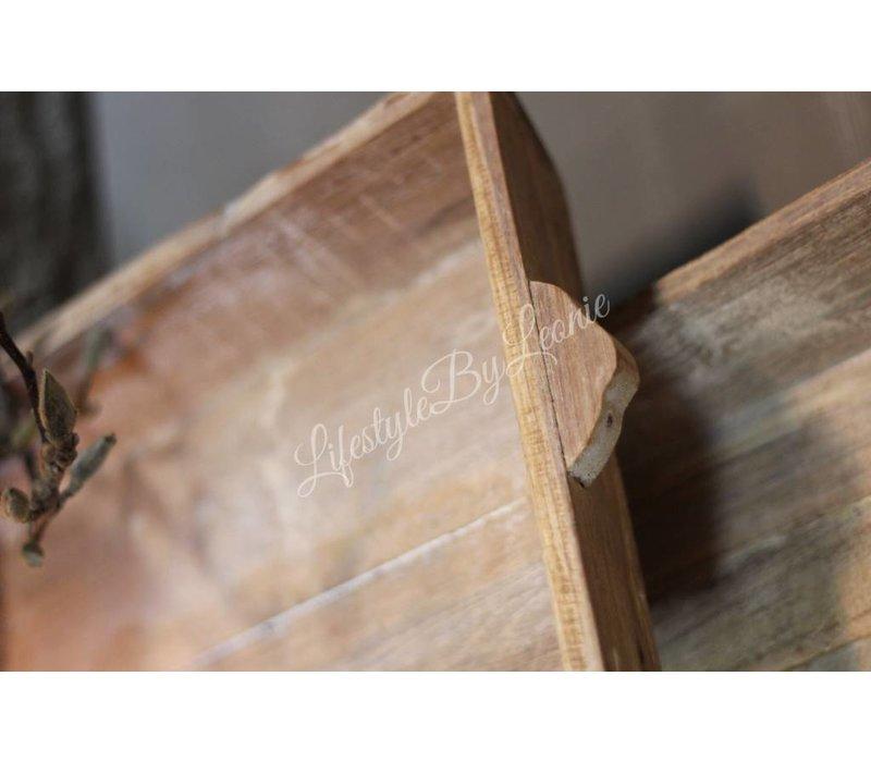 Houten dienblad / tray naturel 37 cm