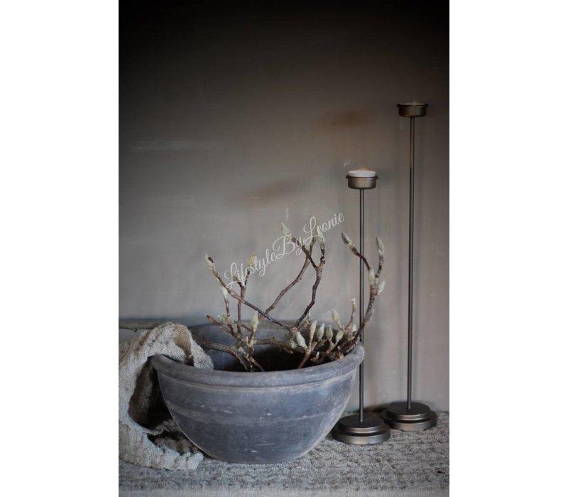 Authentieke grijze Chinese schaal 34 cm