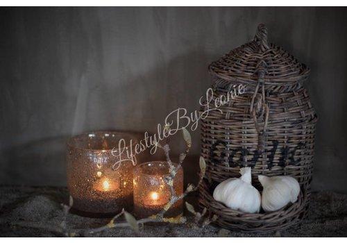 LifestyleByLeonie Rattan knoflookmand Garlic 26 cm