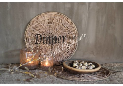 LifestyleByLeonie Rustic rattan ronde placemat Dinner