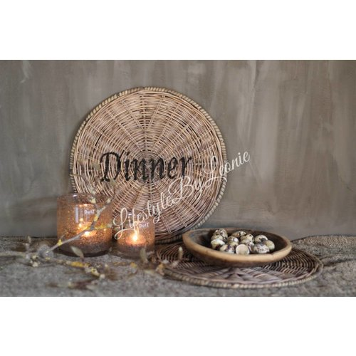 Rustic rattan ronde placemat Dinner