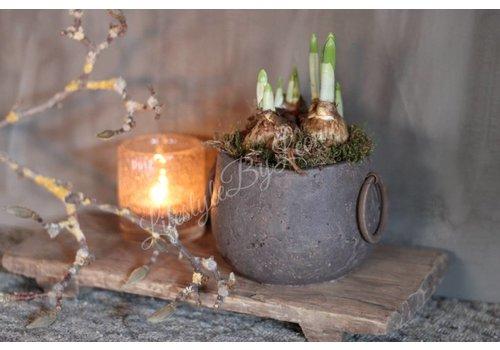 LifestyleByLeonie Stenen kruikje met oren incl voorjaar arrangement