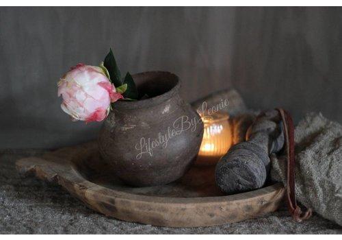 LifestyleByLeonie Authentieke Indiase houten schaal - maat M
