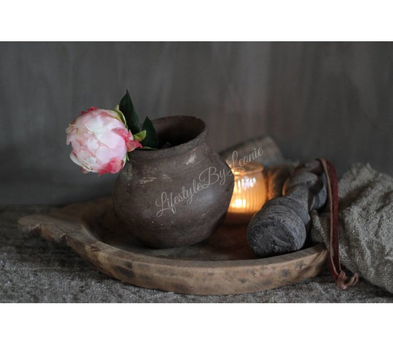 Authentieke Indiase houten schaal - maat M