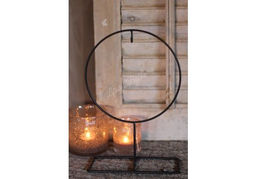 LifestyleByLeonie Kransen frame op voet 'Round'|25cm