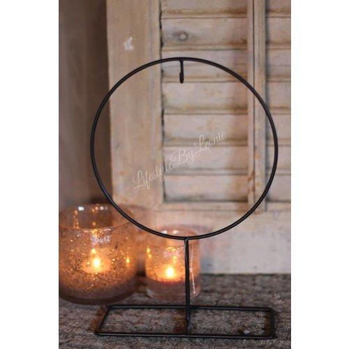 Kransen frame op voet 'Round'|25cm
