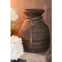 Nepalese stenen kruik Hara bruin 15 cm