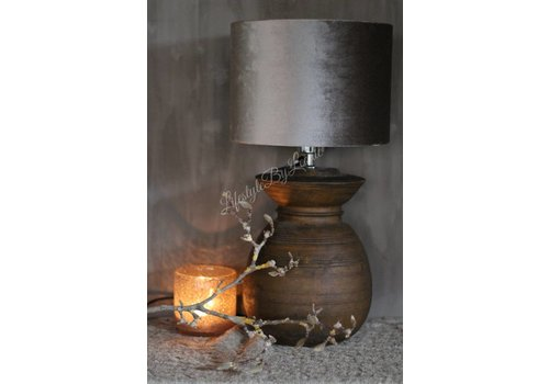 LifestyleByLeonie Nepalese stenen kruik lampvoet 27 cm