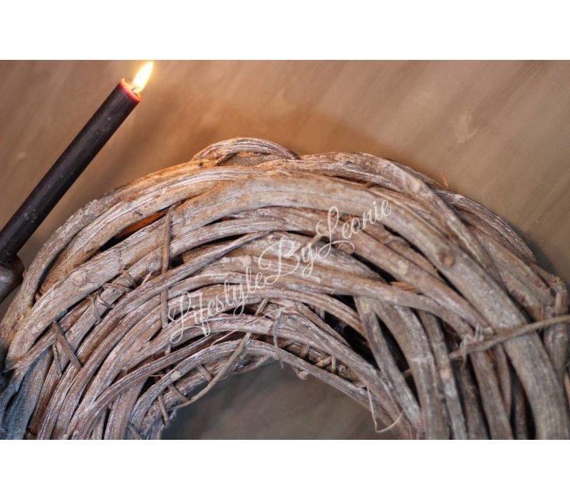 Crazy vine krans whitewash 50 cm