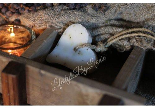 Mijn Stijl Mijn Stijl zeephanger hart wit