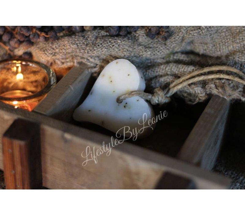 Mijn Stijl zeephanger hart wit