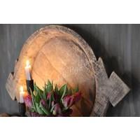 Authentieke Indiase houten schaal XL