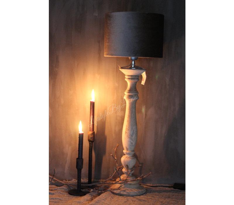 Baluster lampvoet naturel Belli 63 cm