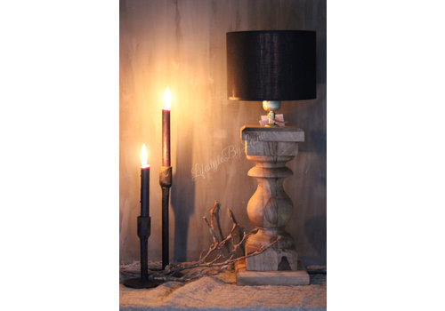 LifestyleByLeonie Brede baluster lampvoet naturel Cad 44 cm