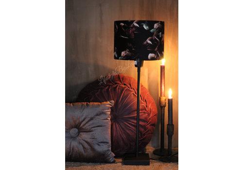 LifestyleByLeonie Cilinder lampenkap Black hortensia 20 cm
