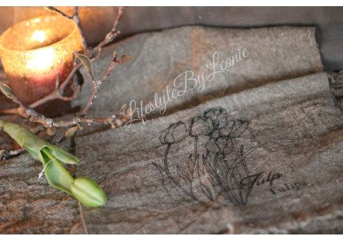 LifestyleByLeonie Shabby linnen doek Tulpen