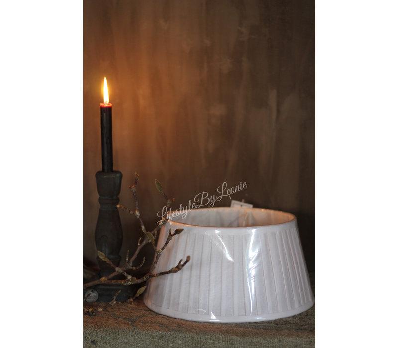 Lampenkap geplooid wit 30 cm