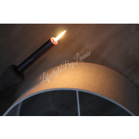 Grote cilinder lampenkap naturel 40 cm