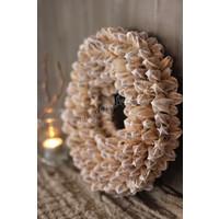 Krans Lily white wash 30 cm
