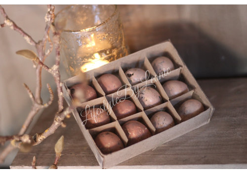 LifestyleByLeonie Doosje kwartel eitjes Pastel Pink 12 stuks