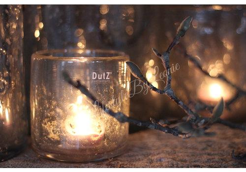 Dutz DUTZ cilinder windlicht met metall chips 10 cm